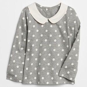 GAP Peter Pan Collar Shirt in Polka Dot | EUC